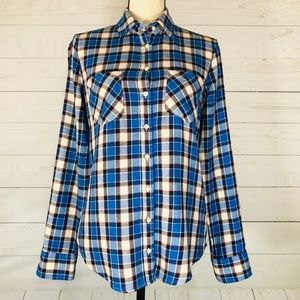 Aeropostale Plaid Button Front Flannel Shirt Sz S
